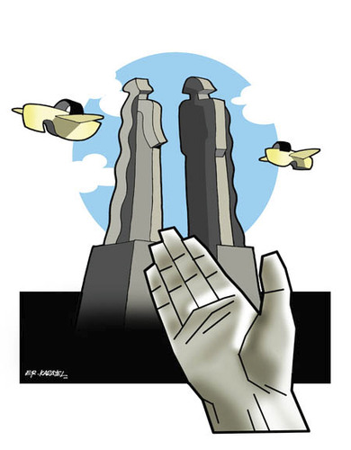 Cartoon: TO SUPPORT SCULPTOR MEHMET AKSOY (medium) by donquichotte tagged sclptr