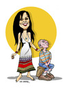 Cartoon: -SEVCAN CERKEZ- PORTRAIT (small) by donquichotte tagged svcn