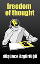 Cartoon: freedom of thought (small) by donquichotte tagged freedom