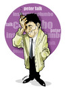 Cartoon: inspector columbo -peter falk (small) by donquichotte tagged columbo
