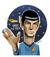 Cartoon: MR SPOCK (small) by donquichotte tagged spck