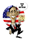 Cartoon: NOBEL PRIZE AND OBAMA (small) by donquichotte tagged nobel