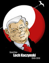 Cartoon: POLISH PRESIDENT LECH KACZYNSKI (small) by donquichotte tagged lechk