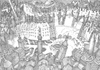 Cartoon: The open heart of the city (small) by erikberndt tagged urban,architecture