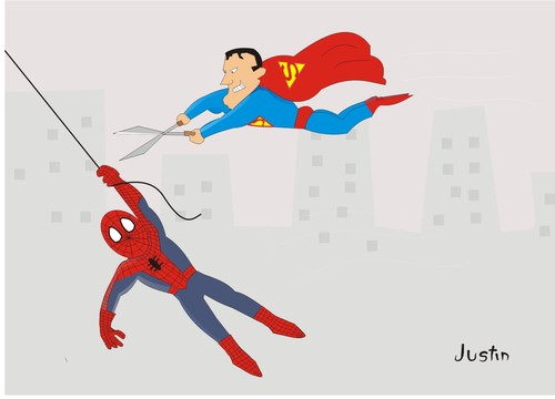Cartoon: hero (medium) by claude292 tagged hero,super