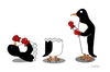 Cartoon: Pinguim boxer (small) by claude292 tagged animal