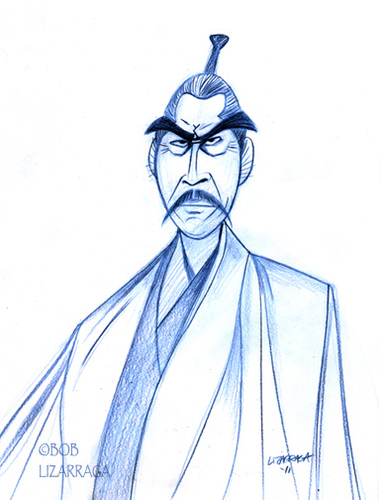: Toshiro Mifune (medium) By Batfink Tagged Caricature,toshiro,mifune