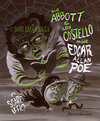 Cartoon: A and C meet Edgar Allan Poe (small) by Batfink tagged caricature,edgar,allan,poe,abbott,costello,comedy