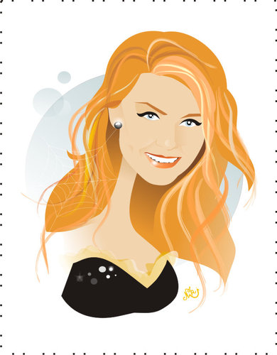 Cartoon: Kirsten Dunst (medium) by Nicoleta Ionescu tagged kirsten,dunst