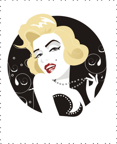 Cartoon: Marilyn Monroe III (medium) by Nicoleta Ionescu tagged marilyn,monroe