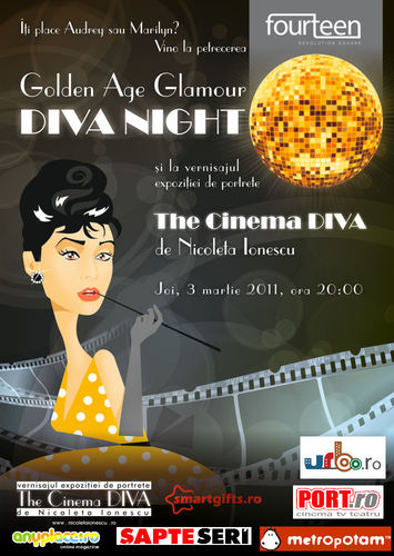 Cartoon: The Cinema Diva (medium) by Nicoleta Ionescu tagged the,cinema,diva,exhibition