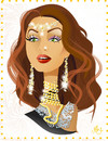 Cartoon: Aishwarya Rai (small) by Nicoleta Ionescu tagged aishwarya rai beauty miss queen world