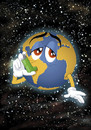 Cartoon: Asmatic Earth - Ecocartoon 2009 (small) by Nicoleta Ionescu tagged ecocartoon,planet,earth,erde,monde,mundo,world,eco,öko,polution,verschmutzung