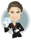 Cartoon: Emily Deschanel in Bones (small) by Nicoleta Ionescu tagged emily deschanel