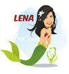 Cartoon: Lena  Meyer-Landrut (small) by Nicoleta Ionescu tagged lena,meyer,landrut,eurovision