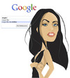 Cartoon: Megan Fox  - i am feeling lucky (small) by Nicoleta Ionescu tagged megan fox