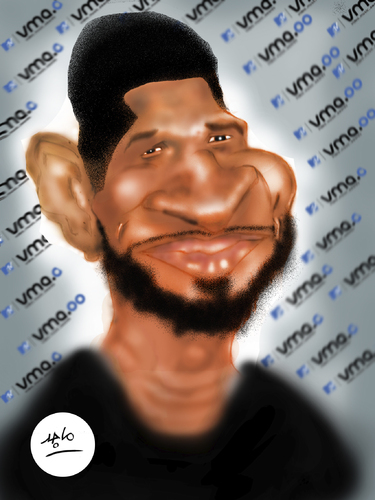 Cartoon: Usher (medium) by Majid Atta tagged atta,majid