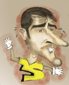 Cartoon: Casillas (small) by Majid Atta tagged majid,atta