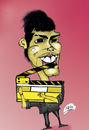 Cartoon: Director Rayan Al Abbas (small) by Majid Atta tagged majid,atta