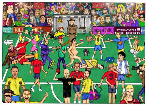 football by matankohn sports cartoon toonpool