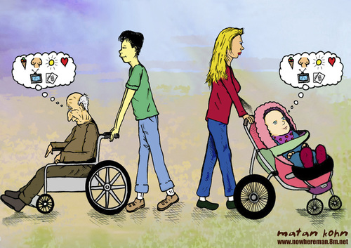 Young And Old Cartoon old vs. young By matan...