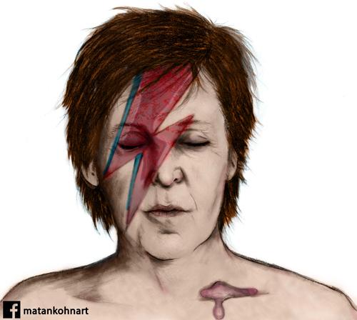 Cartoon Paul Mccartney Ziggy Stardust Medium By Matan Kohn Tagged
