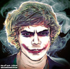 Cartoon: Harry styles as the Joker (small) by matan_kohn tagged harry,styles,jocker,batman,comics,movie,one,direction,boy,band,funny,scarry,celebrities,love,fame,matan,kohn