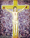 Cartoon: simon cowell is jesus (small) by matan_kohn tagged simon,cowell,jesus,church,religion,religious,funny,goofy,spiritual,people,crucified,crucifix,caricature,matan,kohn,water,amusing,realistic,laughing,toilets,hummer