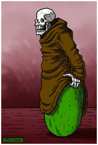 Cartoon: EHECDEAD (medium) by Dirk Berrens tagged berrnes,dirk,dead,ehec