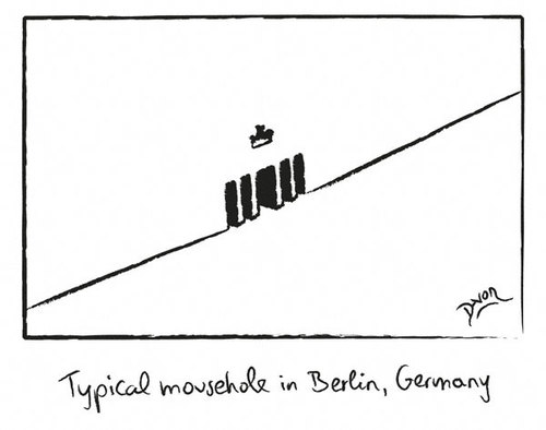 Cartoon: Mousehole in Berlin (medium) by Davor tagged berlin,mousehole
