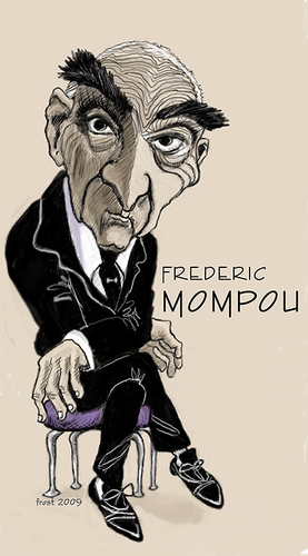 Cartoon: Frederic Mompou (medium) by frostyhut tagged frederic,mompou,composer,pianist,classical,music,catalan,spanish