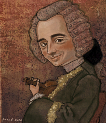 Cartoon: Jean-Jacques de Mondonville (medium) by frostyhut tagged baroque,composer,french,male,wig,violin