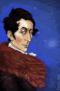 Cartoon: Carl Maria von Weber (small) by frostyhut tagged weber classical music romantic pianist composer german