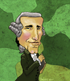 Cartoon: Franz Joseph Haydn (small) by frostyhut tagged haydn,classical,composer,wig,music