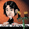 Cartoon: Gothic Piano Guy (small) by frostyhut tagged piano,keyboard,candles,goth,gothic,blood,candelabra,music,classical