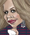 Cartoon: Renee Fleming (small) by frostyhut tagged opera,diva,renee,fleming,singer