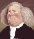 Cartoon: William Boyce (small) by frostyhut tagged composer,boyce,english,baroque,wig