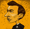 Cartoon: Young Sergei Rachmaninoff (small) by frostyhut tagged rachmaninoff,romantic,classical,music,piano,pianist,composer,russian