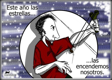 Cartoon: Encender el anyo (medium) by LaRataGris tagged laratagris,feliz,anyo