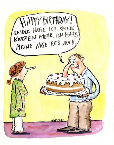 Cartoon: Happy Birthday (medium) by Kossak tagged birthday,geburtstag ...