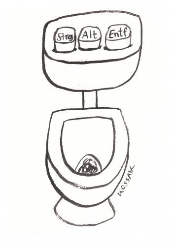 Str Alt Entf By Kossak | Media & Culture Cartoon | Toonpool Badezimmer Modern Und Alt