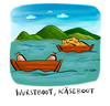 Cartoon: Wurstboot Käseboot (small) by Kossak tagged essen,boot,see,wust,käse,jause