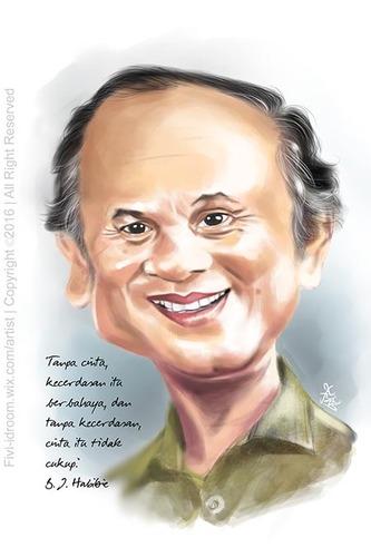 Bj Habibie Caricature Karikatur By Fivi Famous People