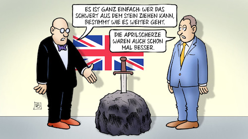 Cartoon: Brexcalibur (medium) by Harm Bengen tagged excalibur,brexcalibur,schwert,stein,aprilscherze,parlament,brexit,uk,gb,europa,eu,austritt,chaos,abstimmung,harm,bengen,cartoon,karikatur,excalibur,brexcalibur,schwert,stein,aprilscherze,parlament,brexit,uk,gb,europa,eu,austritt,chaos,abstimmung,harm,bengen,cartoon,karikatur