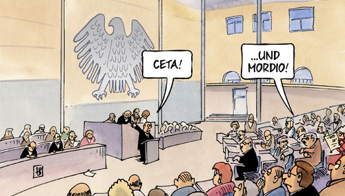 Cartoon: Ceta und Mordio (medium) by Harm Bengen tagged ceta,mordio,bundestag,eu,europa,parlament,freihandelsabkommen,abstimmung,harm,bengen,cartoon,karikatur,ceta,mordio,bundestag,eu,europa,parlament,freihandelsabkommen,abstimmung,harm,bengen,cartoon,karikatur