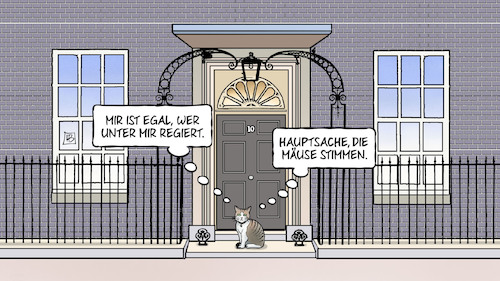 Cartoon: Chief Mouser (medium) by Harm Bengen tagged chief,mouser,katze,kater,downing,street,regierung,uk,gb,wahl,ergebnis,may,brexit,harm,bengen,cartoon,karikatur,chief,mouser,katze,kater,downing,street,regierung,uk,gb,wahl,ergebnis,may,brexit,harm,bengen,cartoon,karikatur