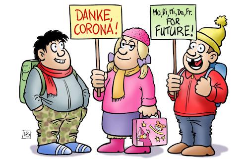 Corona for Future By Harm Bengen | Politics Cartoon | TOONPOOL