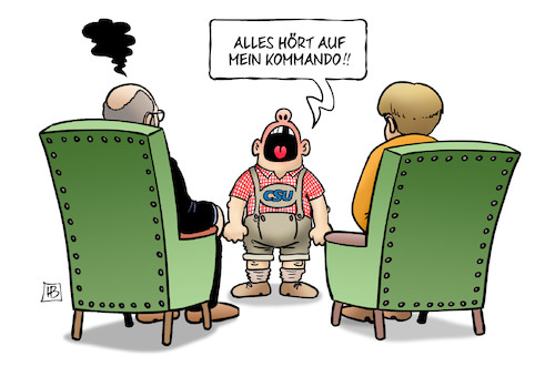 Cartoon: CSU-Kraftmeierei (medium) by Harm Bengen tagged csu,kraftmeierei,schreien,kind,kommando,sondierungen,groko,spd,schulz,merkel,cdu,harm,bengen,cartoon,karikatur,csu,kraftmeierei,schreien,kind,kommando,sondierungen,groko,spd,schulz,merkel,cdu,harm,bengen,cartoon,karikatur