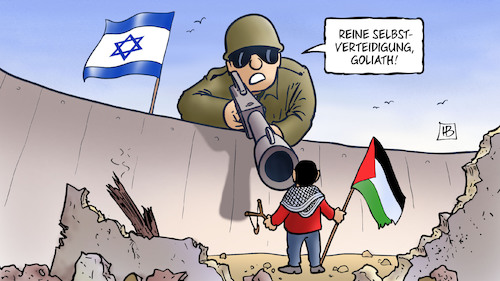 Cartoon: David und Goliath 2018 (medium) by Harm Bengen tagged david,goliath,selbstverteidigung,israel,palästina,gaza,proteste,tote,jerusalem,demonstrationen,harm,bengen,cartoon,karikatur,david,goliath,selbstverteidigung,israel,palästina,gaza,proteste,tote,jerusalem,demonstrationen,harm,bengen,cartoon,karikatur