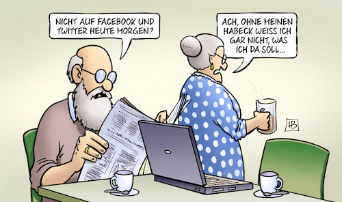 Cartoon: Habeck und Social Media (medium) by Harm Bengen tagged habeck,social,media,facebook,twitter,laptop,computer,susemil,harm,bengen,cartoon,karikatur,habeck,social,media,facebook,twitter,laptop,computer,susemil,harm,bengen,cartoon,karikatur